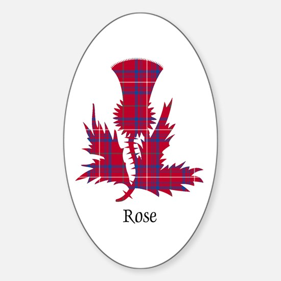 Thistle - Rose Sticker (Oval)
