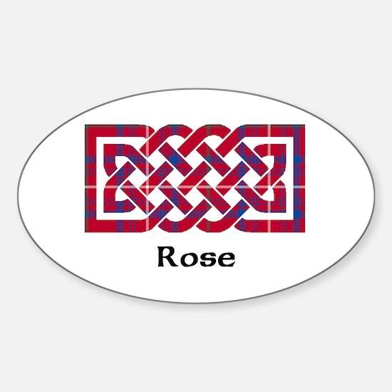 Knot - Rose Sticker (Oval)