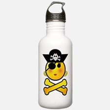 Pirate Girl Emoticon Water Bottle