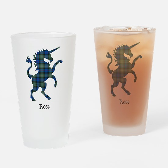 Unicorn-Rose hunting Drinking Glass