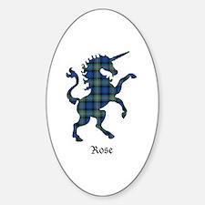 Unicorn-Rose hunting Sticker (Oval)