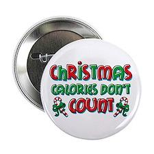 """Christmas Calories 2.25"""" Button"""