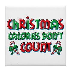 Christmas Calories Tile Coaster