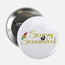 "Talk Like A Pirate - Survey Scoundrel 2.25"" Button"