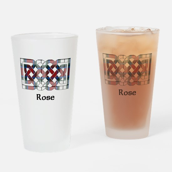Knot-Rose dress Drinking Glass