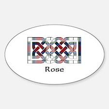 Knot-Rose dress Sticker (Oval)