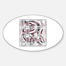 Monogram-Rose dress Sticker (Oval)