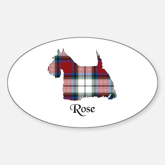 Terrier-Rose dress Sticker (Oval)