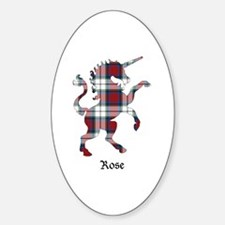 Unicorn-Rose dress Sticker (Oval)
