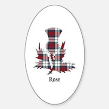 Thistle-Rose dress Sticker (Oval)