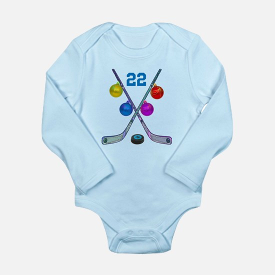 hockey Long Sleeve Infant Bodysuit