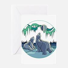 Native Bear Art Greeting Cards