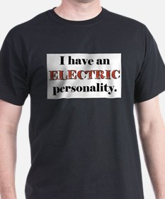 Electric Personality Ash Grey T-Shirt