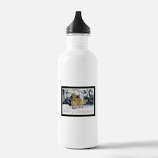 Golden Retriever Merry Christmas Water Bottle