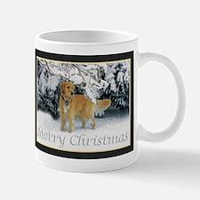 Golden Retriever Merry Christmas Mugs