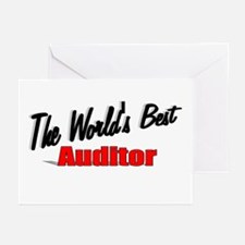 """""""The World's Best Auditor"""" Greeting Cards (Pk of 2"""