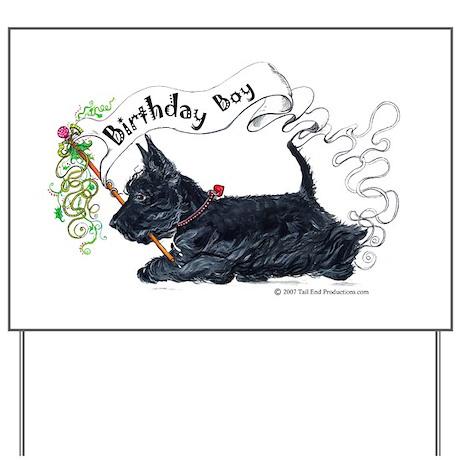 Birthday BOY Scottie Yard Sign