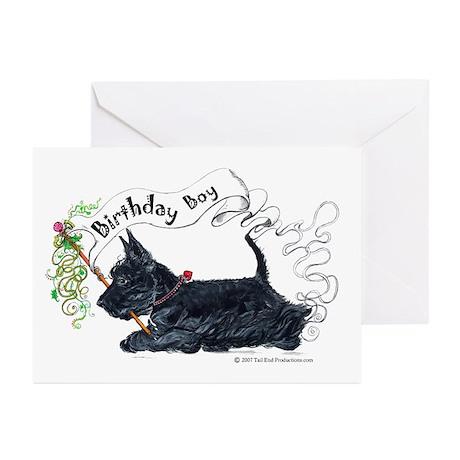 Birthday BOY Scottie Greeting Cards (Pk of 10)