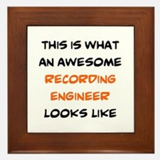 awesome recording engineer Framed Tile