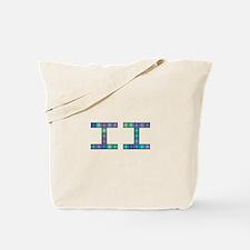 II (Two) (Pixels) (Blue) Tote Bag