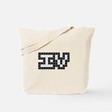 IV (Four) (Pixels) (Black & White) Tote Bag