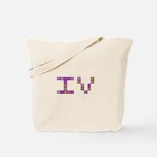 IV (Four) (Pixels) (Pink) Tote Bag