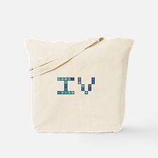 IV (Four) (Pixels) (Blue) Tote Bag