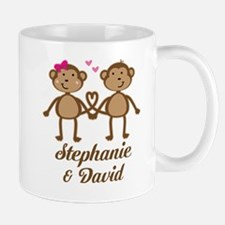 Monkey Couple Personalized Gift Mugs