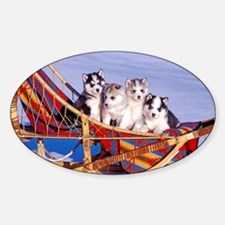 Husky Puppies Decal