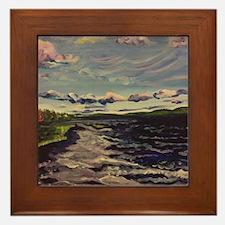 Gunflint Lake By Cassandra Gullicks Framed Tile