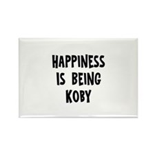 Happiness is being Koby Rectangle Magnet