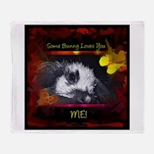 Cute French lop rabbit Throw Blanket