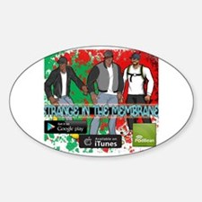 Funny Animation movies Sticker (Oval)
