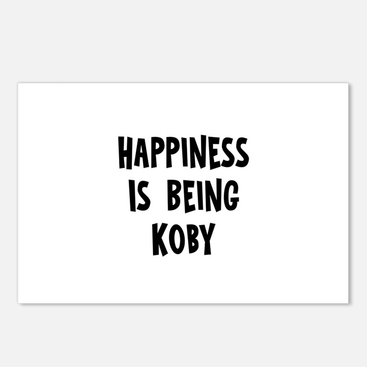Happiness is being Koby Postcards (Package of 8)