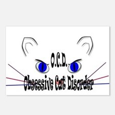 O.C.D. Obsessive Cat Disorder Postcards (Package o