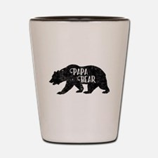 Papa Bear - Family Shirts Shot Glass