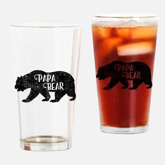 Papa Bear - Family Shirts Drinking Glass