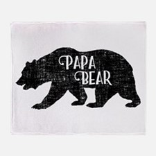 Papa Bear - Family Shirts Throw Blanket
