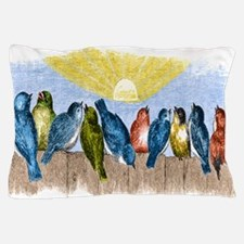 Birds Fence BM Pillow Case
