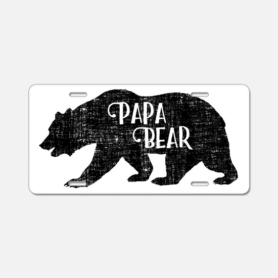 Papa Bear - Family Shirts Aluminum License Plate