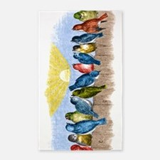 Birds Fence BT Area Rug
