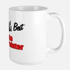 """The World's Best Auto Body Painter"" Large Mug"