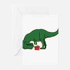 T-rex hates presents Greeting Cards