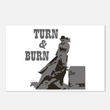Barrel Racer: Turn & Burn Postcards (Package of 8)