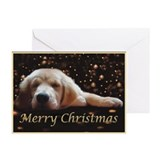 Golden retriever christmas Greeting Cards