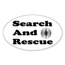 Search And Rescue Oval Decal