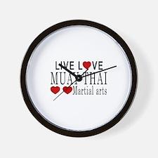Live Love Muay Thai Martial Arts Design Wall Clock