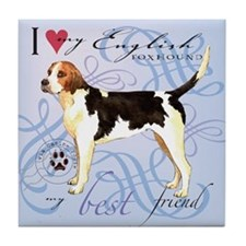 English Foxhound Tile Coaster