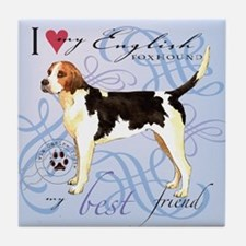 English Foxhound Tile Coaster