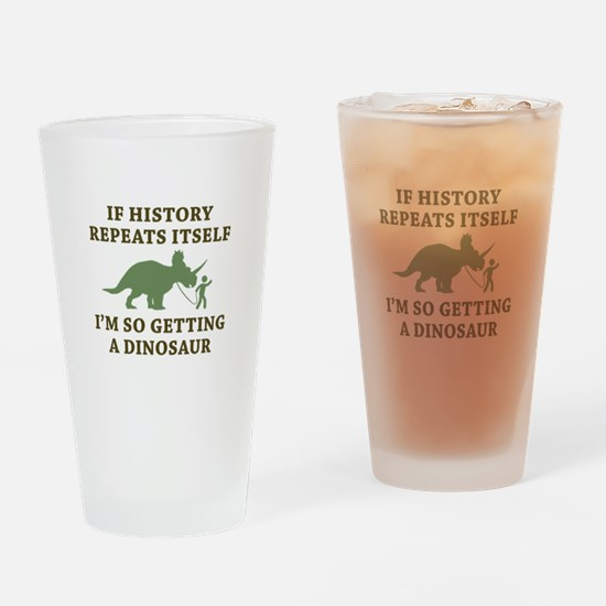 History Repeats Drinking Glass